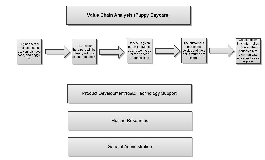 Puppy Daycare Example 31 Value Chain