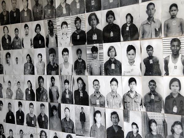 Victimas de los jemeres rojos (museo Toul Sleng)