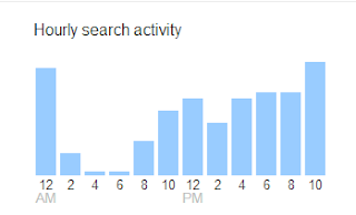 google hourly search history