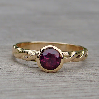 purple sapphire ring