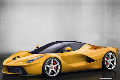 ferrari laferrari yellow