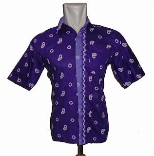 Batik kantor pria ungu