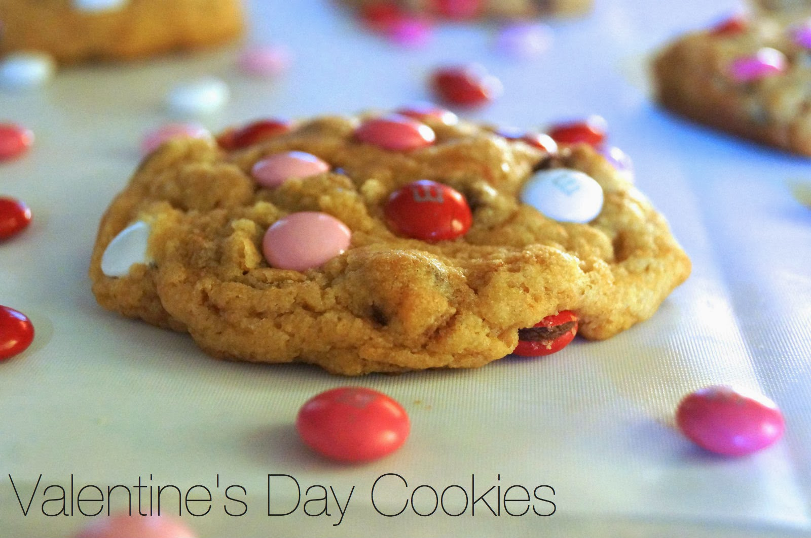 Valentine's Day Chocolate Chip + M&M Cookies