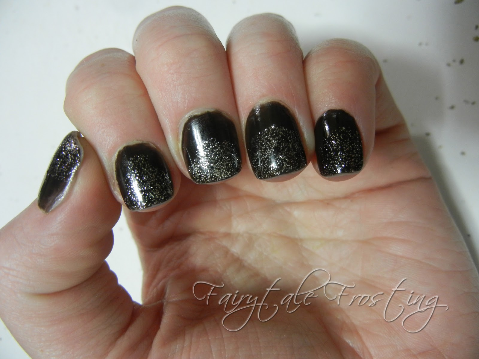 Fairytale frosting black and glitter nails black and glitter nails prinsesfo Choice Image