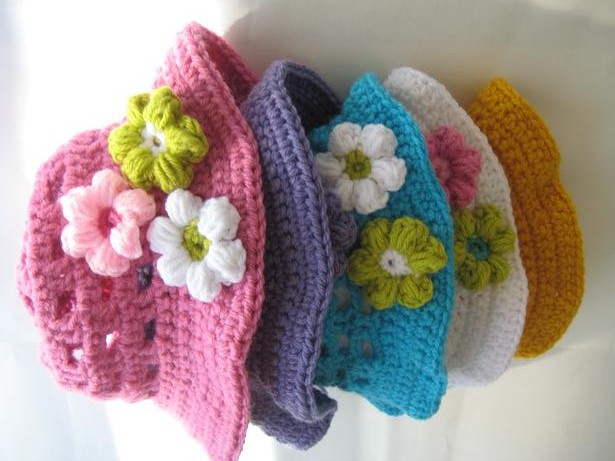 Crochet Pattern Sun Hat : Crochet Dreamz: Crochet Sun Hat Pattern for Girls, Newborn ...