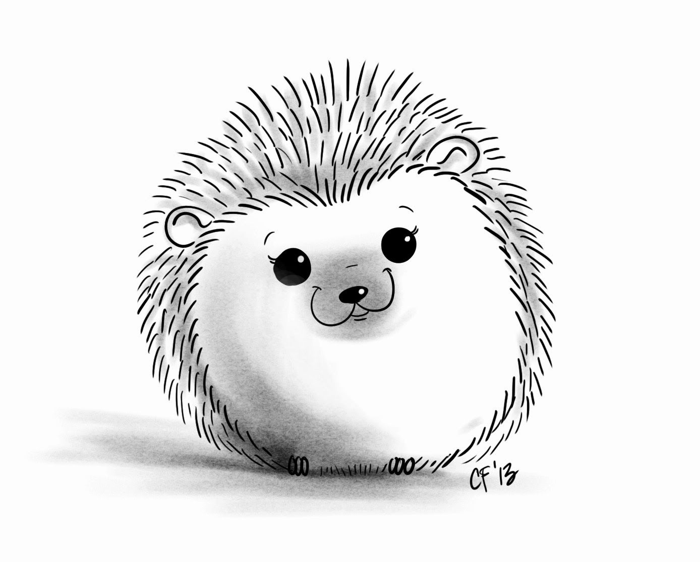 how to draw a porcupine face