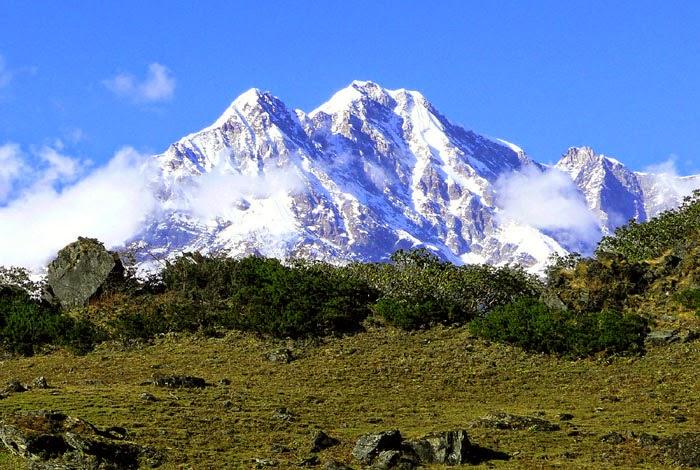 Chaukhamba Mountain in India