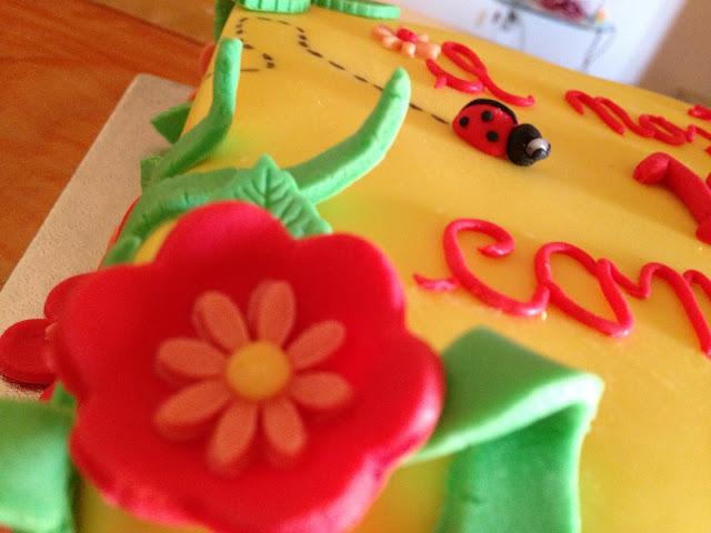 decimo compleanno lucia e adriana torta fiorita e coccinelle!