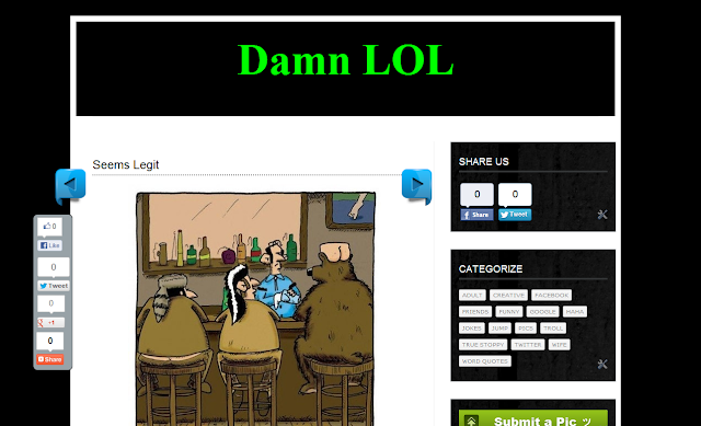 Damn LOL Blogger Template