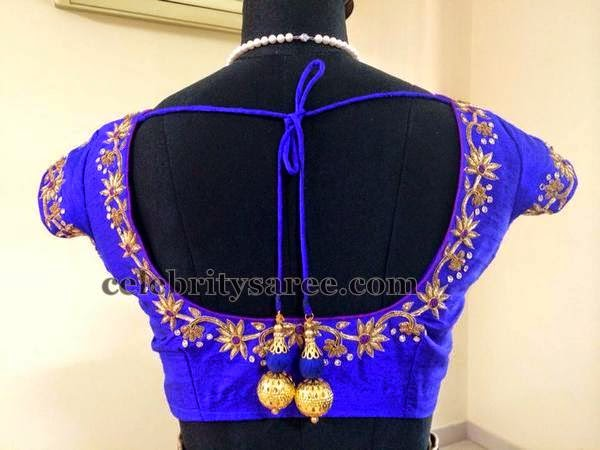 Simple Work Designer Blouse in Blue