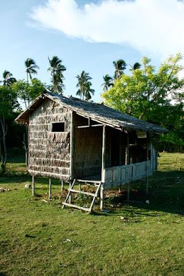 Bambushütte Maliangin Island