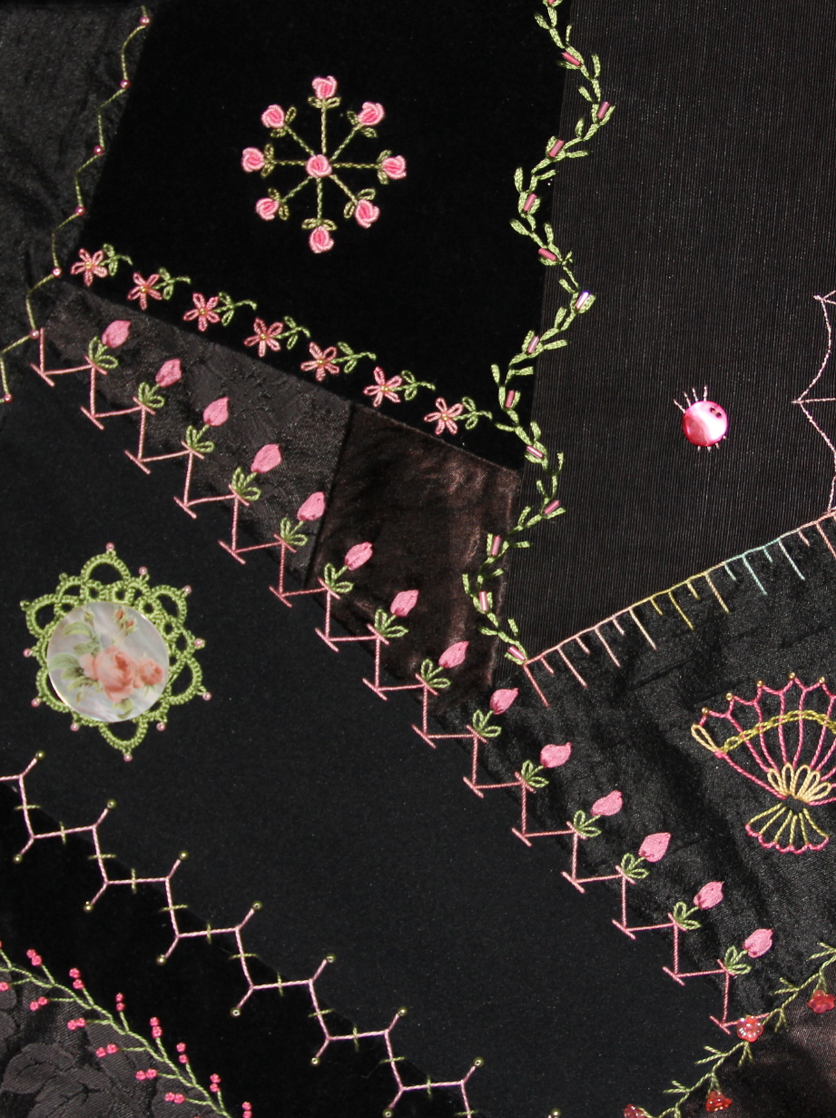 Intermediate Crazy Quilt Stitches: In This Class You Will Learn The More  Difficult Stitches That Are Often Seen These Stitches Would Include  Knotted Types