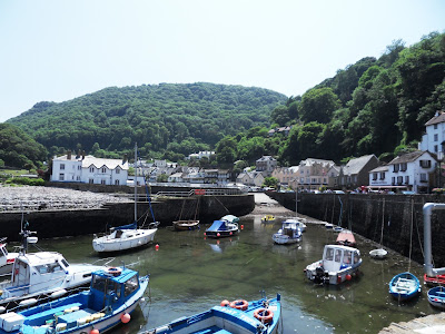 Lynmouth harbour Devon