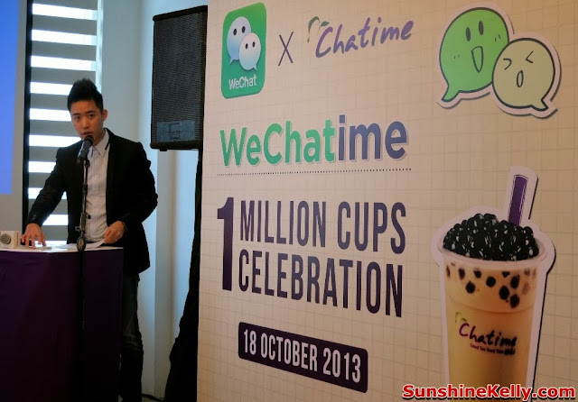 WeChatime 1 Million Cups Celebration, WeChat Malaysia, Chatime Malaysia, WeChat, Chatime, Malaysia, partnership, launch, Bryan Loo, Managing Director of Chatime Malaysia