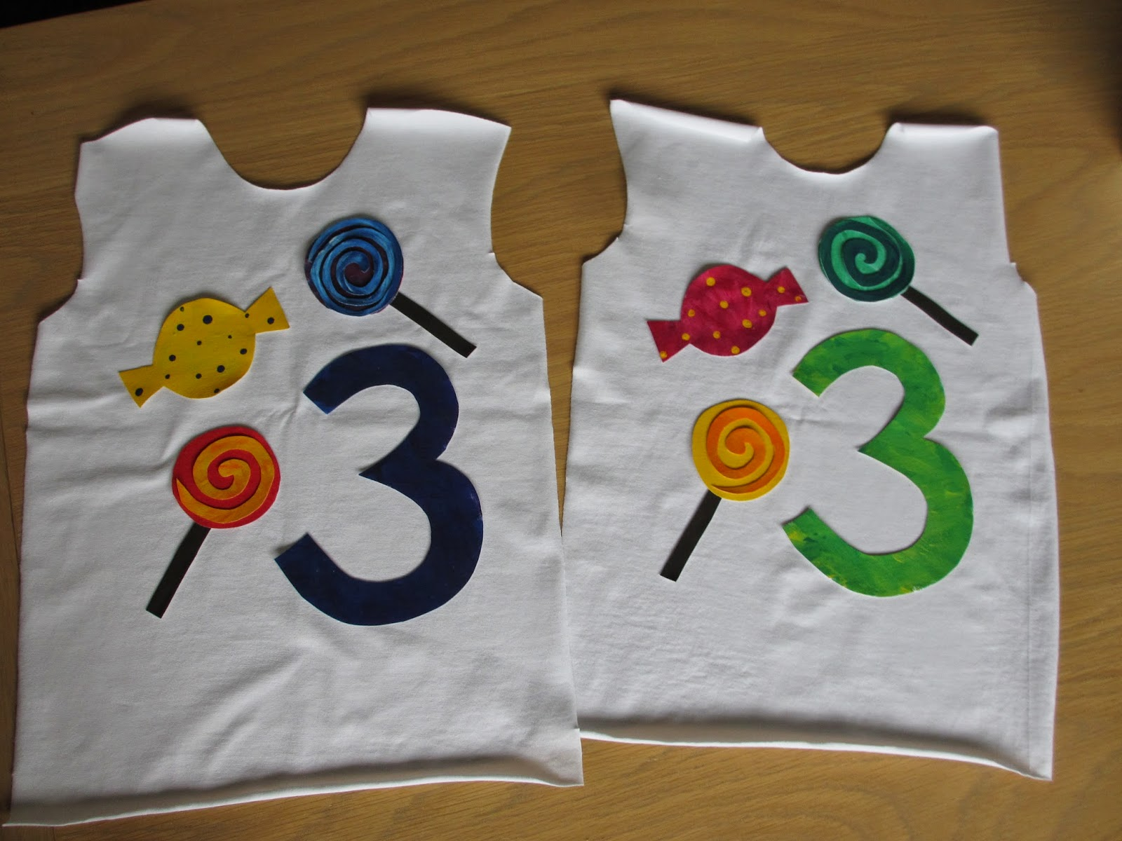 Birthday shirts ready to applique and sew | Twice the fun