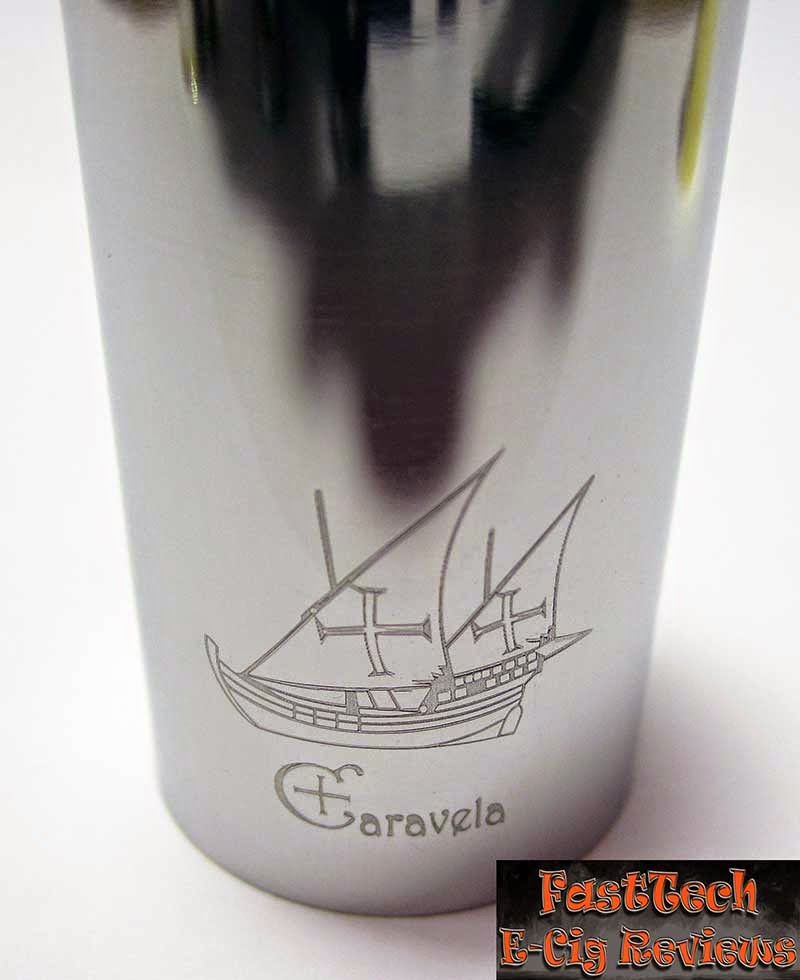 Caravela clone polished logo engraving