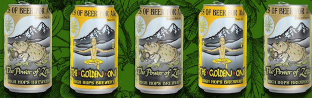 High Hops beer in cans