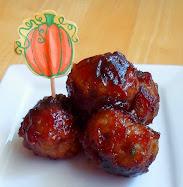 ital sausage meatballs w/cranberry glaze