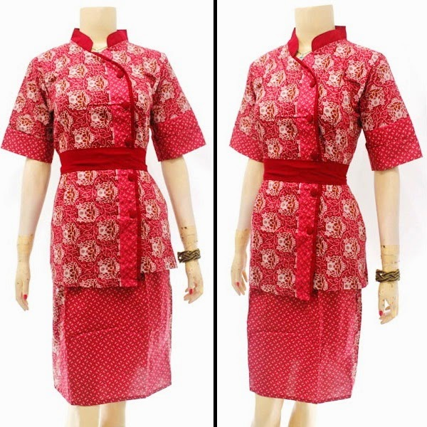 DB3818 Model Baju Dress Batik Modern Terbaru 2014
