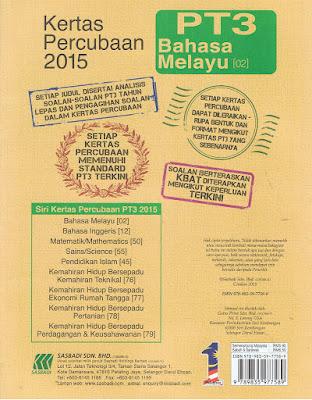 Koleksi Soalan Percubaan PT3 2014 ( Negeri Kedah )
