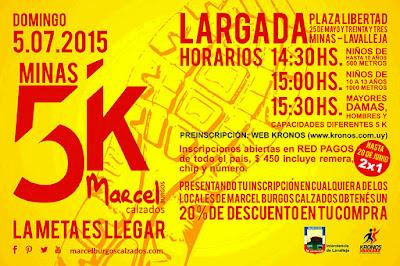 5k Marcel Burgos calzados (Minas, Lavalleja, 05/jul/2015)