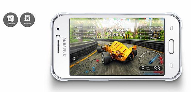 Hardware yang digunakan Samsung Galaxy J1 Ace 4G