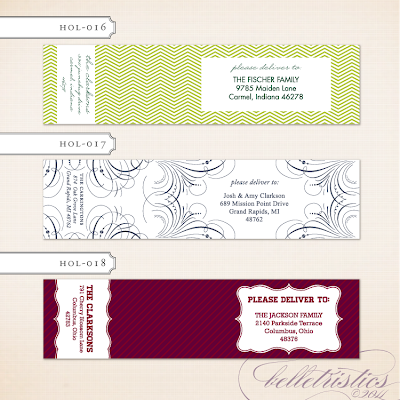printable diy print your own wrap around holiday christmas holiday address label return address