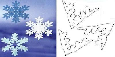 Как вырезать снежинки из бумаги, схемы
