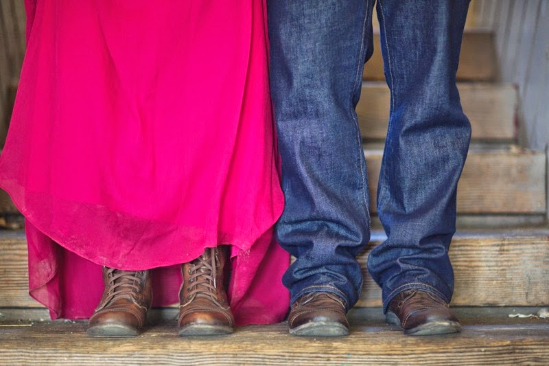 Same boots for the bride and for the groom - Patricia Stimac, Seattle Wedding Officiant