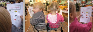 Maximilian and Artemis shopping for Fruits and Vegetables