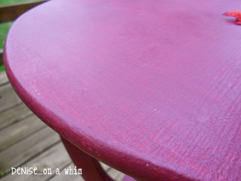 Textured Finish on an Antique Table Makeover from Denise on a Whim