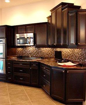 patterned countertop and backsplash