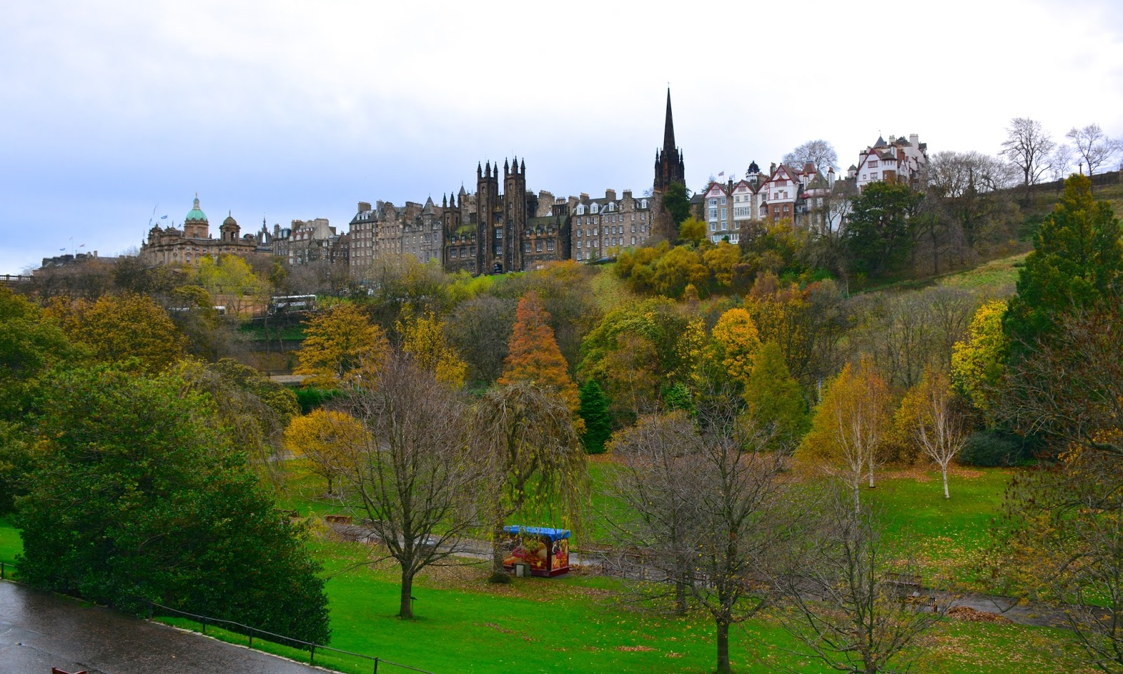 autumn splendor in Princes Street Gardens in Edinburgh