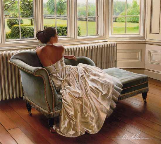 rob hefferan pinturas hiper realistas mulheres noivas casamento beleza vestidos festa gala