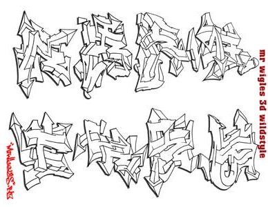 GRAFITY ART Designs Of Graffiti Alphabet Letters A Z