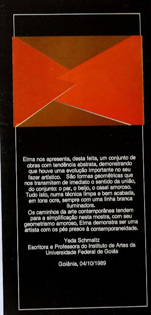 Ilustrando o convite uma das telas da exposição de Elma Carneiro