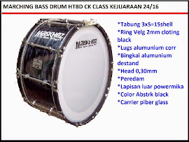 BASS DRUM MARCHING CK 24/16