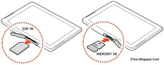 Card, Insert microSD Memory Card of Samsung Galaxy Tab 2 10.1 GT P5100