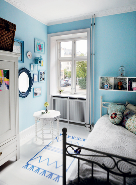Kids Bedroom   creativity in vintage and blue. life as a moodboard  Kids Bedroom   creativity in vintage and blue