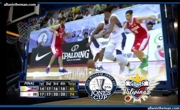 Gilas Pilipinas falls short against Iran in Jones Cup 2015
