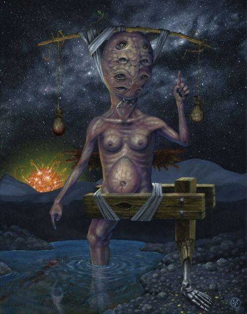 Jeff Christensen js4853 deviantart pinturas surreais sombrias Temperança