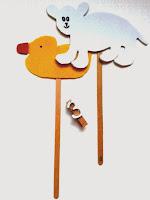 Marionetas de patito de goma y de oso polar ©Selene Garrido Guil