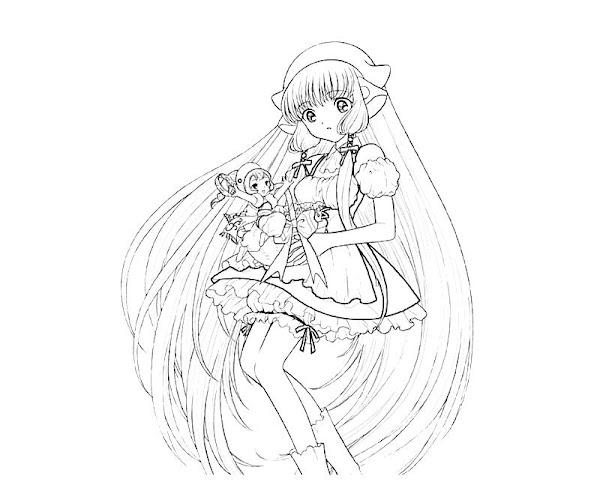 Chobits Coloring Pages