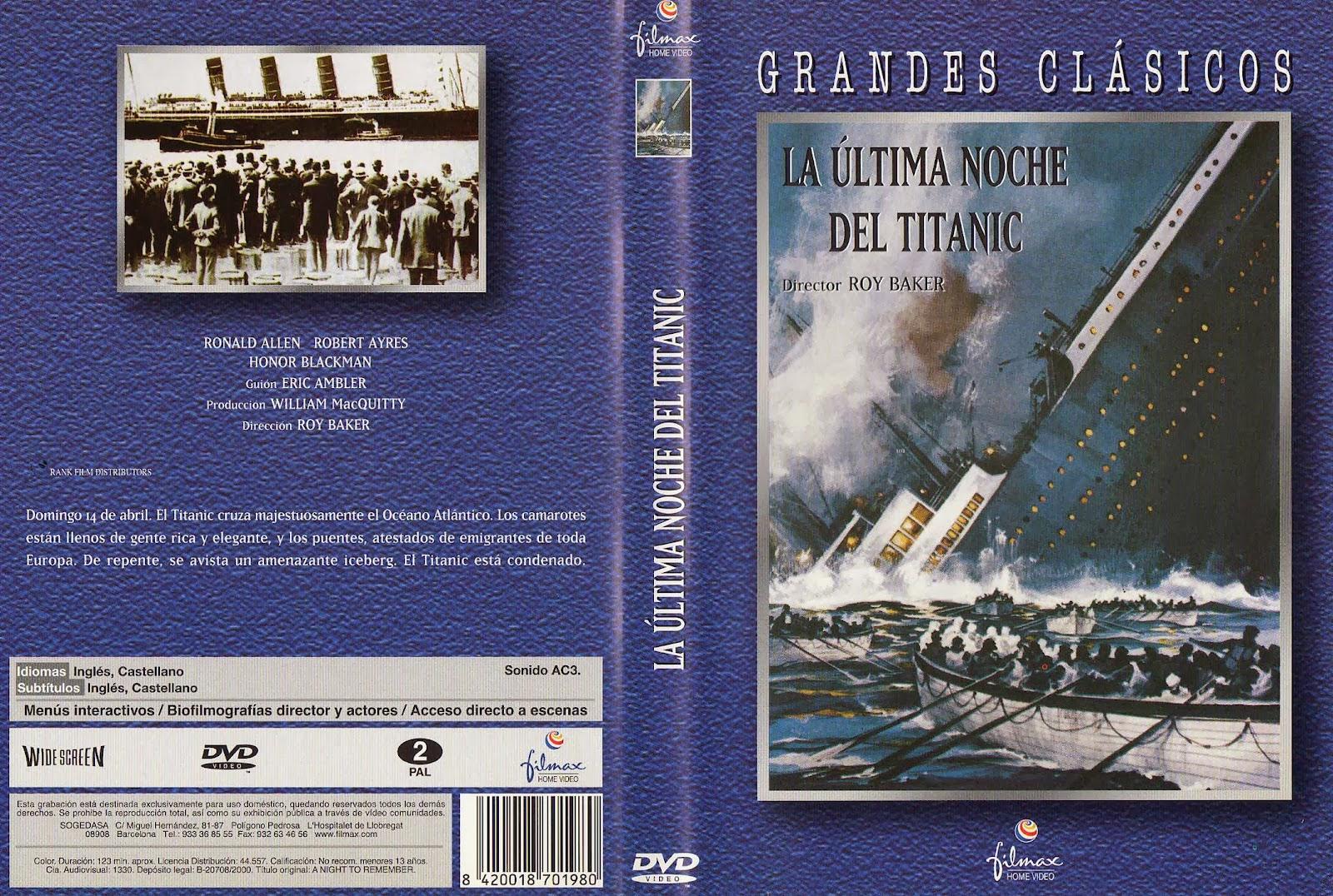 La última noche del Titanic ( 1958 ) Castellano y VOSE DescargaCineClasico.Net