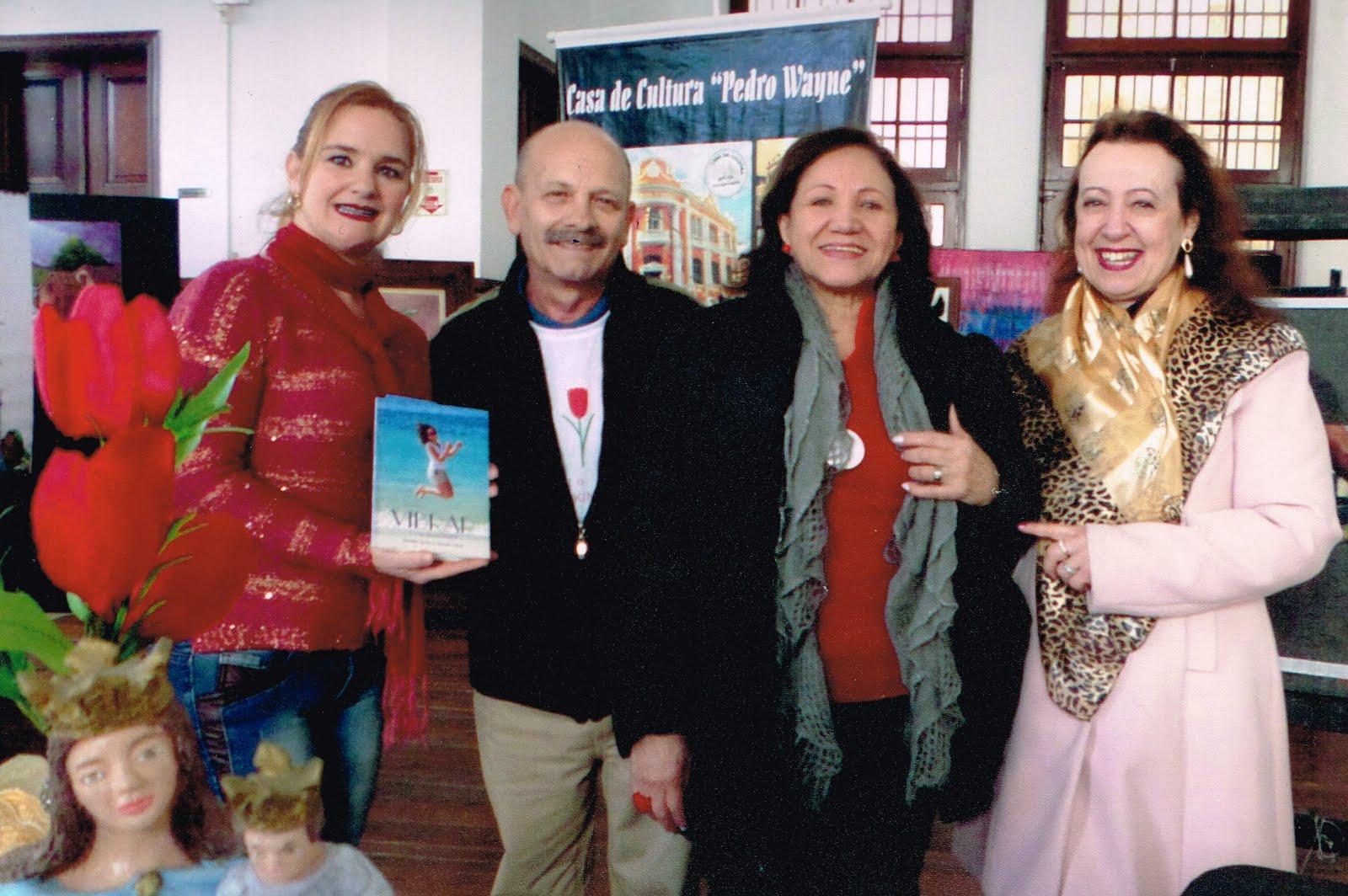 Manoel com Lú Ianzer, Claudia Souza e Marcia Melo