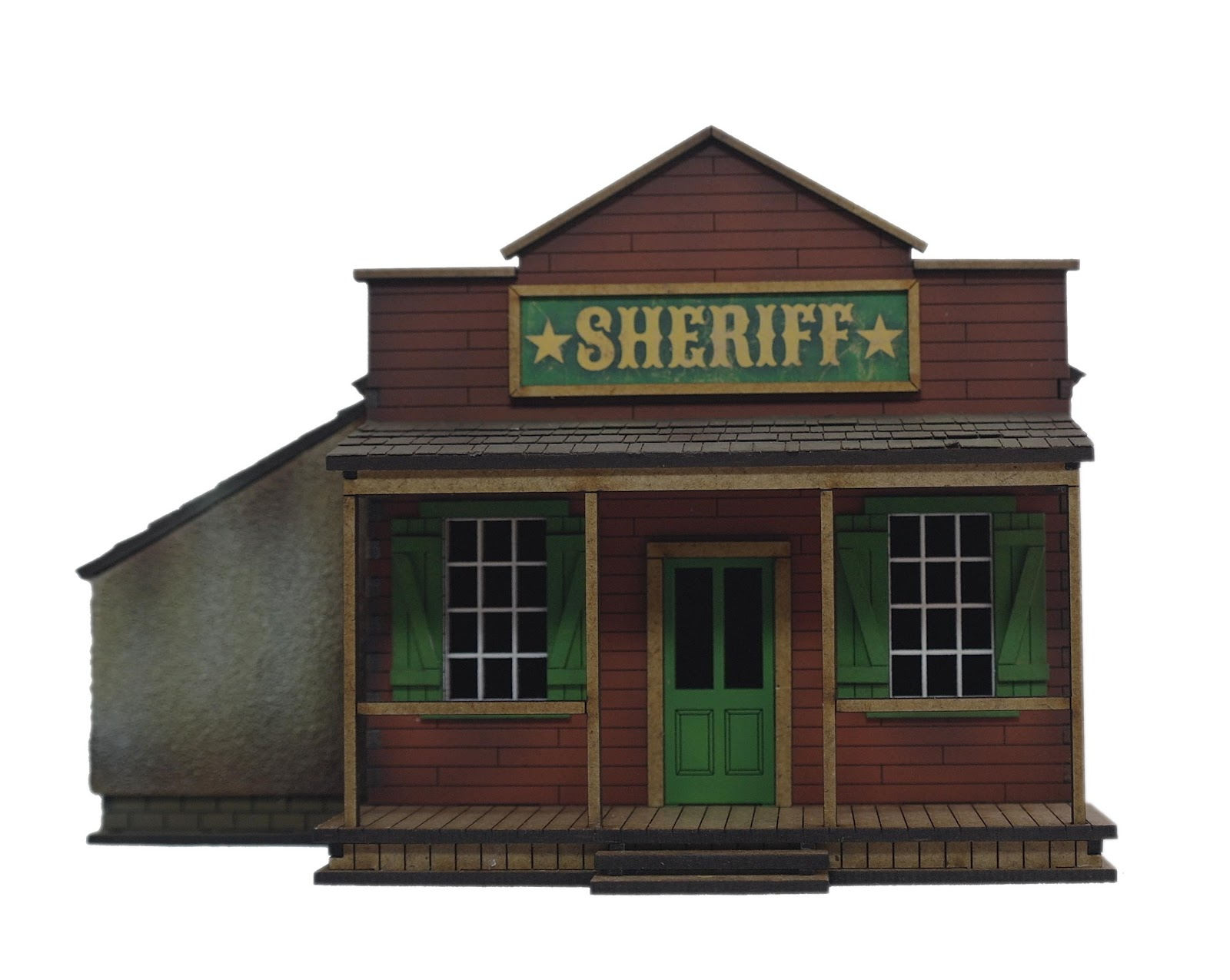 Old West False Front Buildings http://battleflags.blogspot.com/2012/03/old-west-wargame-building-sheriffs.html