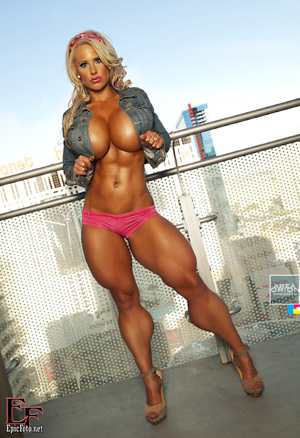 female muscle and breast expansion morph