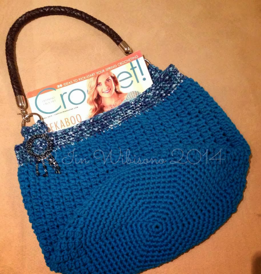 crochet rockstar: ICE Tube Yarns Crochet Bag