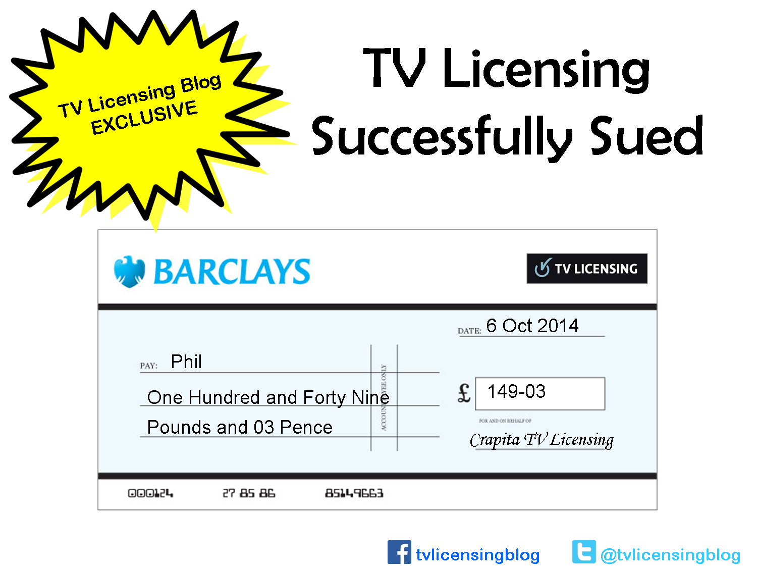 Sue TV Licensing