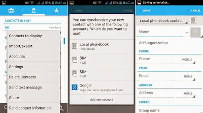 Cherry Mobile Sonic 2.0 Phonebook - Contacts
